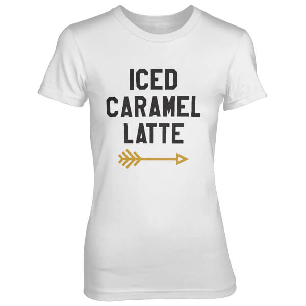 Iced Caramel Latte Women's White T-Shirt
