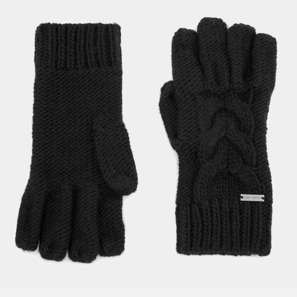 Michael Kors Men's Links Cable Gloves - Black