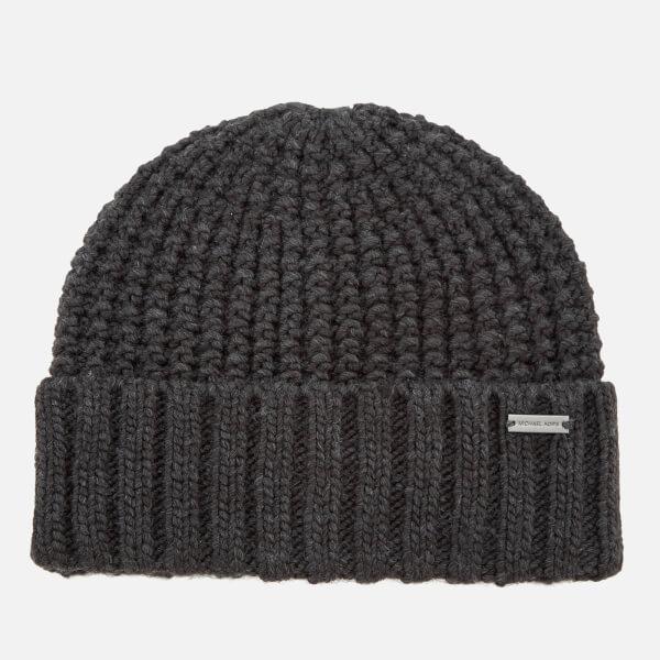 Michael Kors Men's Dashed Rib Cuff Hat - Charcoal