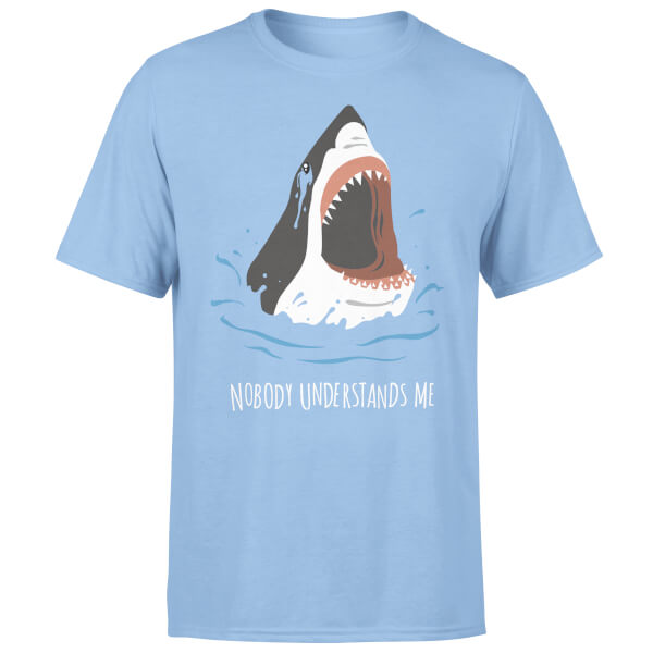Nobody Understands Me Shark Light Blue T-Shirt