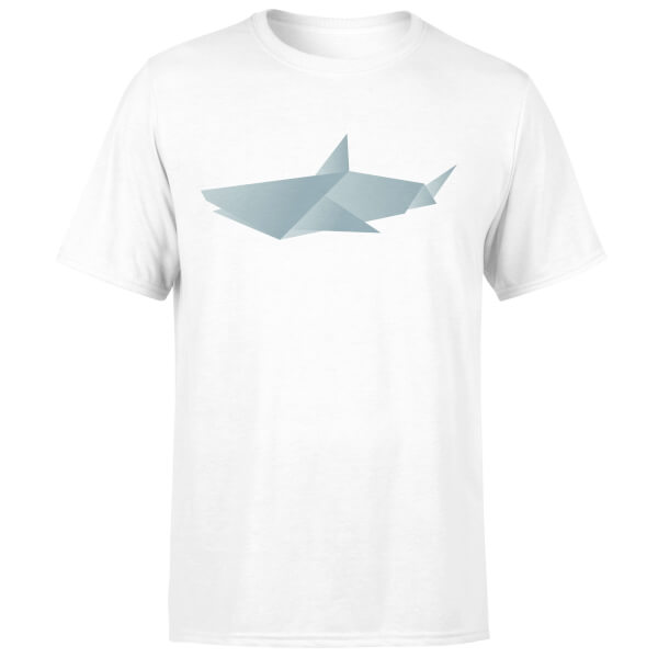 Origami Shark White T-Shirt