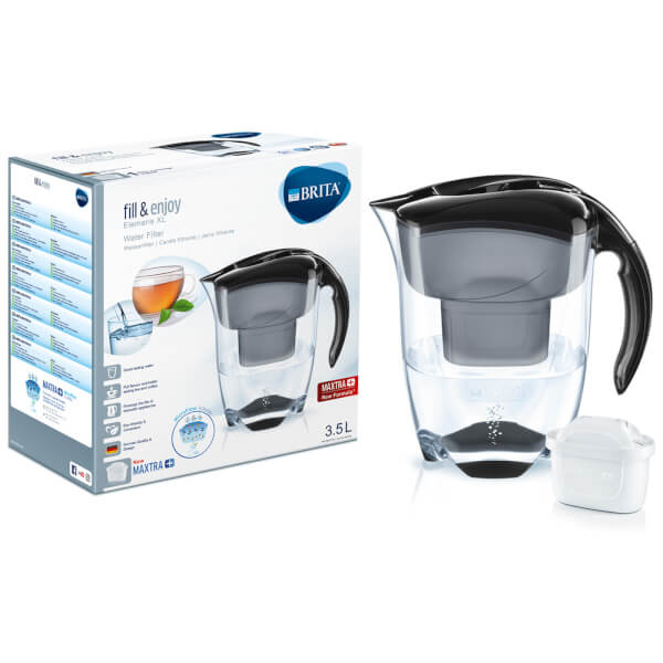 brita maxtra elemaris xl meter water filter jug black homeware. Black Bedroom Furniture Sets. Home Design Ideas