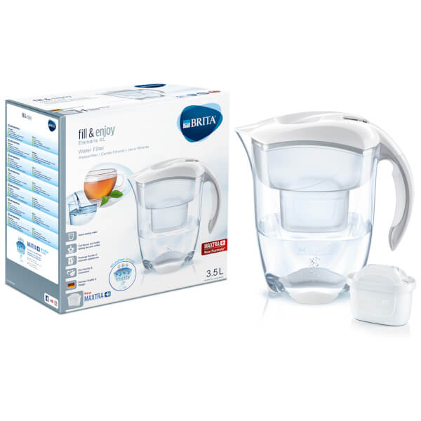 brita maxtra elemaris xl meter water filter jug white. Black Bedroom Furniture Sets. Home Design Ideas