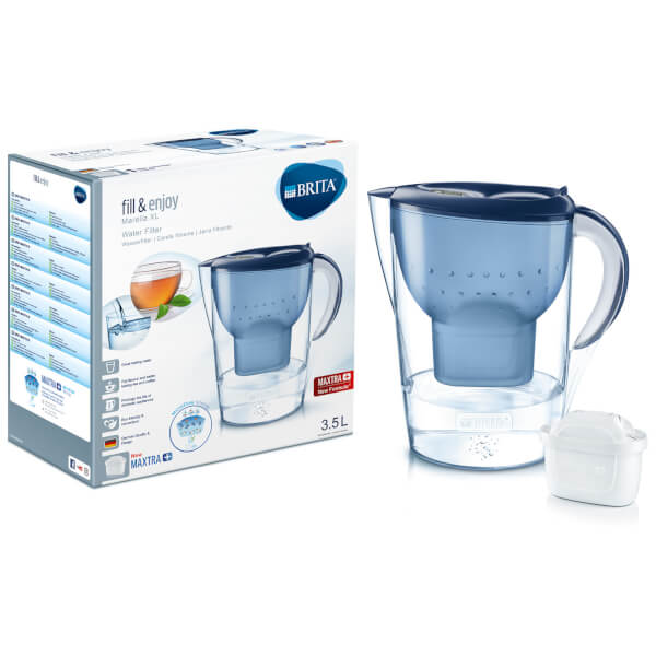 brita maxtra marella xl cool water filter jug blue. Black Bedroom Furniture Sets. Home Design Ideas