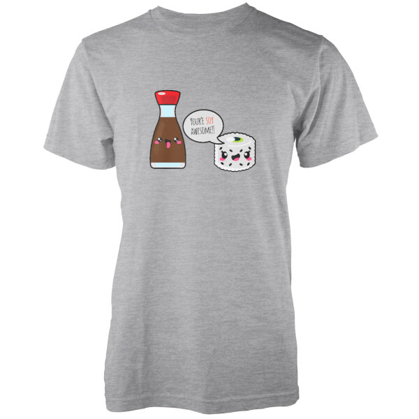 Kawaii Soy Awesome Grey T-Shirt