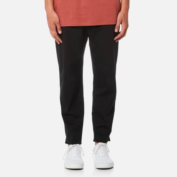 Matthew Miller Men's Marlboro Split Hem Trousers - Black Wool