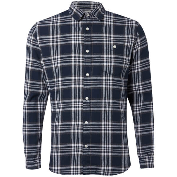 Jack & Jones Originals Men's New Christopher Long Sleeve Shirt - Total Eclipse