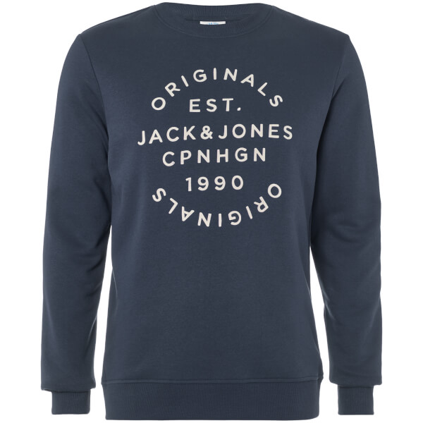 Jack & Jones Originals Men's Soft Neo Sweatshirt - Total Eclipse