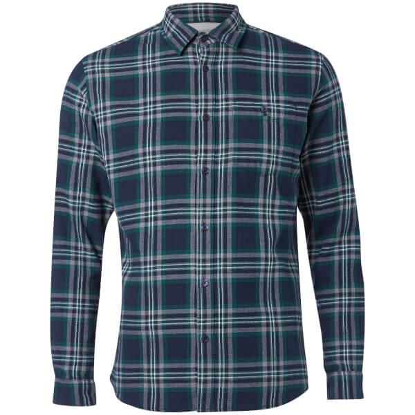 Jack & Jones Originals Men's New Christopher Long Sleeve Shirt - Pondersa Pine