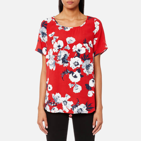 Joules Women's Hannah Printed Woven Shell Top - Red Posy