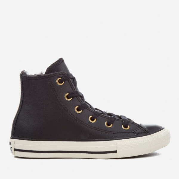 Converse Kids Chuck Taylor All Star Hi-Top Trainers - Black/Black/Egret