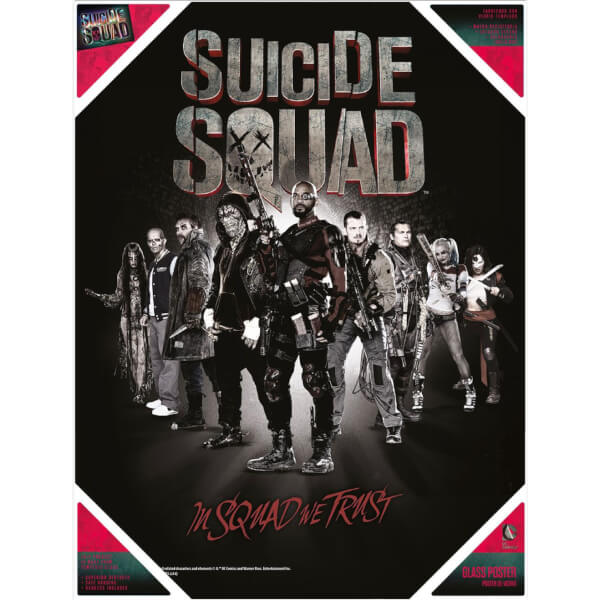 Suicide Squad Glass Poster - In Squad We Trust (30 x 40cm)