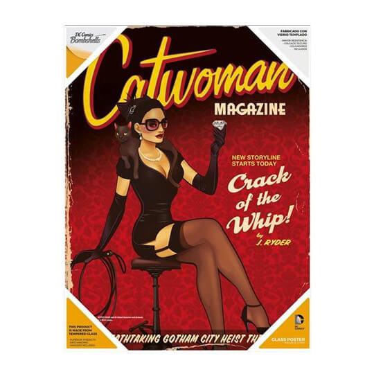 DC Comics Bombshells Glass Poster - Catwoman (30 x 40cm)