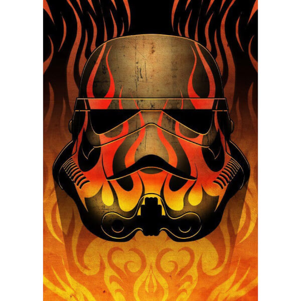Star Wars Metal Poster - Masked Troopers Flames (68 x 48cm)