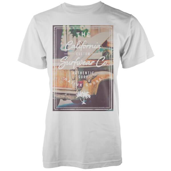 Native Shore Men's California Custom Surf Graphic T-Shirt - White