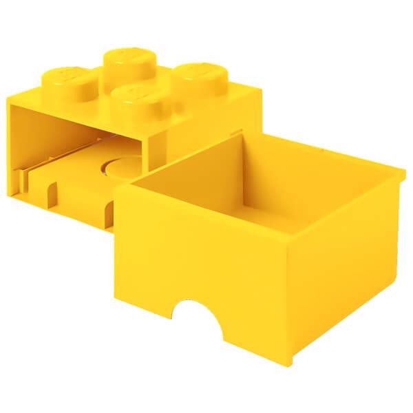 LEGO Storage 4 Knob Brick - 1 Drawer (Bright Yellow) Toys | Zavvi