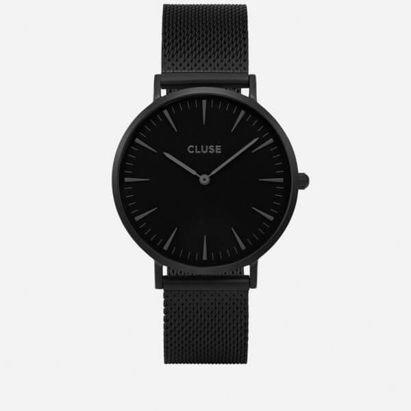 Cluse Women's La Bohème Mesh Watch - Black