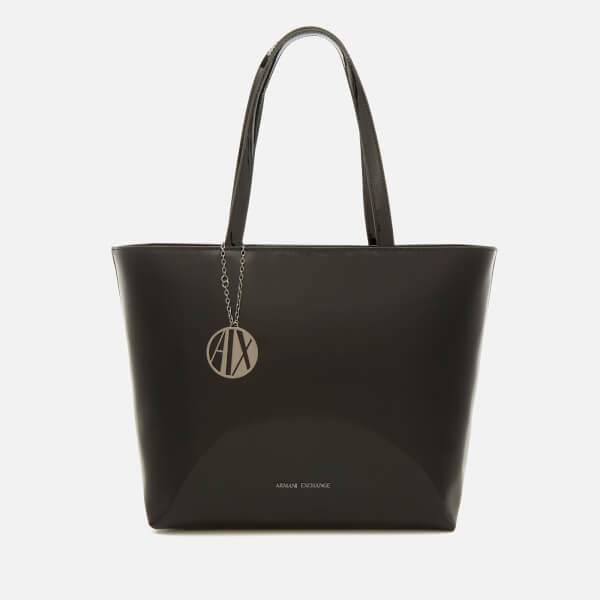 Armani Exchange Women's Patent Tote Bag - Black