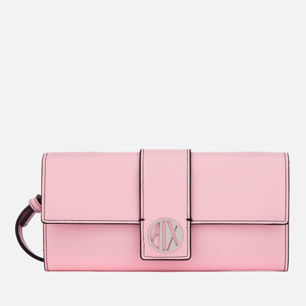 Armani Exchange Women's On Strap Wallet - Rose