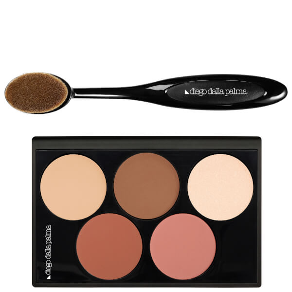 diego dalla palma Highlight and Blush Contour Palette (5 x 3ml)