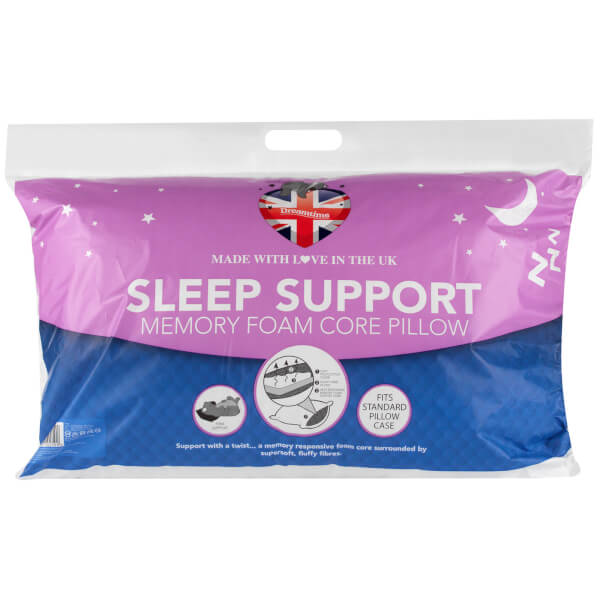 Dreamtime Sleep Support Hollow Fibre Pillow - White