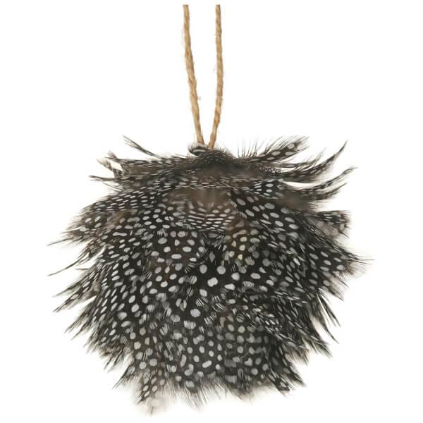 Parlane Feather Hanging Decoration (10 x 10cm) - Black