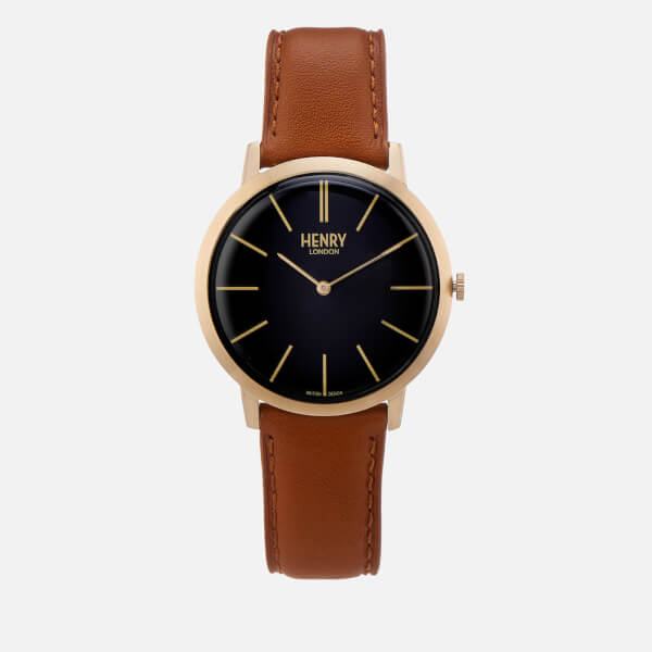 Henry London Men's 40mm Iconic Watch - Brown
