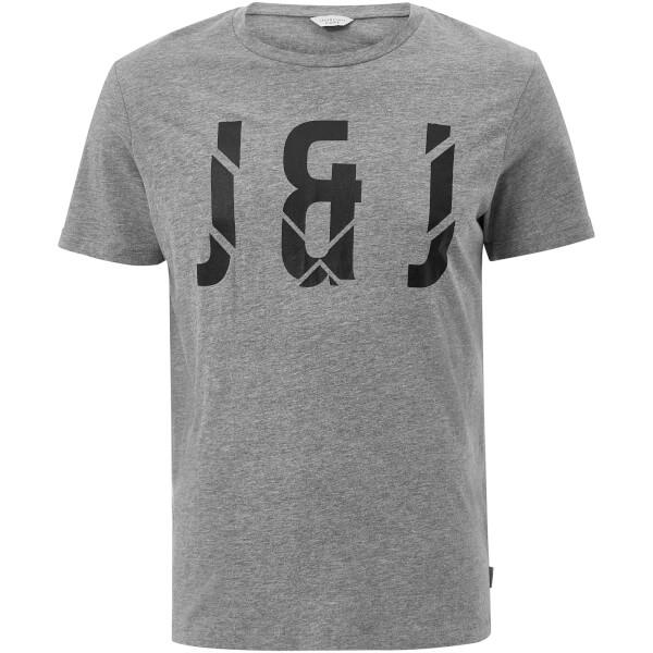 Jack & Jones Core Men's Pixel T-Shirt - Light Grey Marl