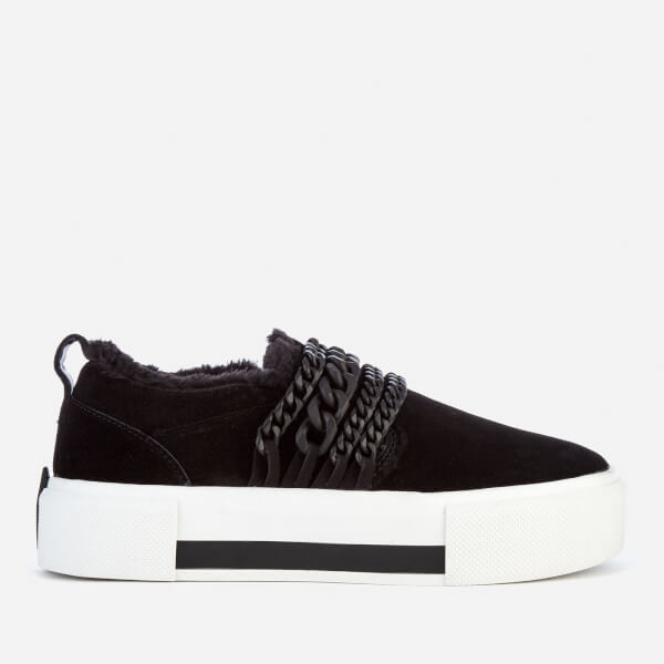 Kendall + Kylie Women's Tory Suede Slip On Trainers - Black