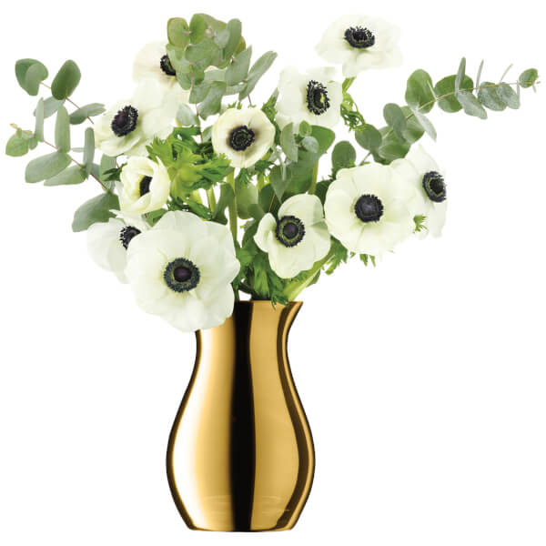 LSA Flower Metallic Posy Vase - 18cm - Gold