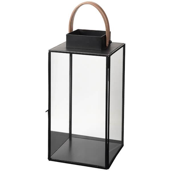 Broste Copenhagen Steinn Lantern - Leather Black