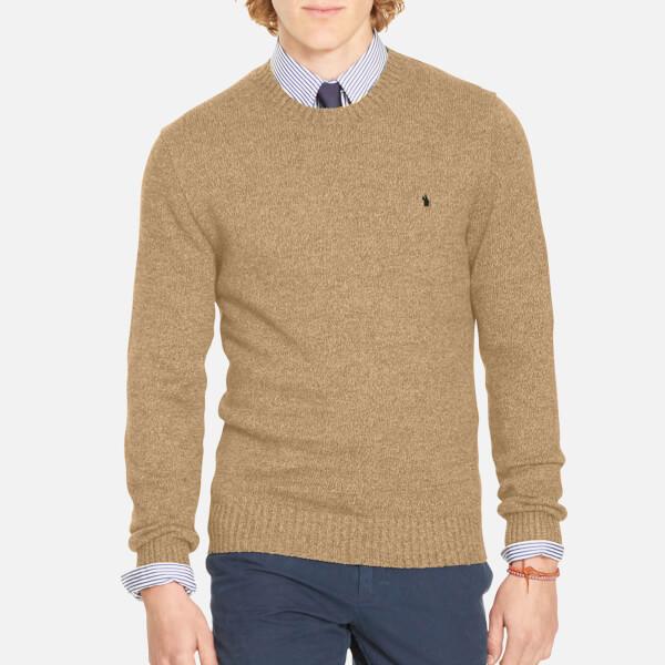 Polo Ralph Lauren Men s Cotton Long Sleeve Sweater - Camel Melange  Image 1 65821c4f160d