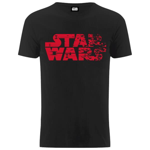 Star Wars Men's The Last Jedi Faded Logo T-Shirt - Black