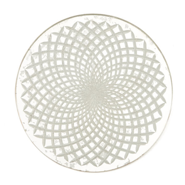 Nkuku Avani Etched Placemat - Antique Silver - Spiral