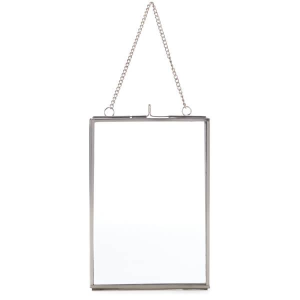 Nkuku Kiko Glass Frame - Silver - Portrait 5 x 7 Inch (13 x 18cm)