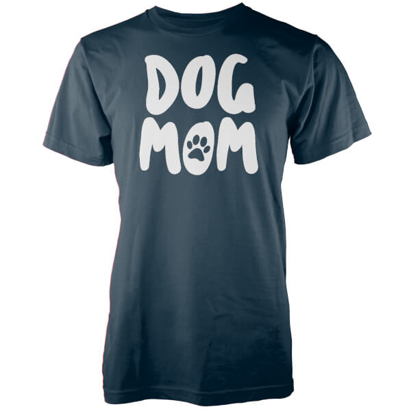 Dog Mom Navy T-Shirt