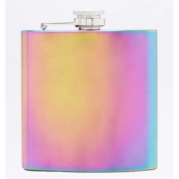 Rainbow Plate Hip Flask