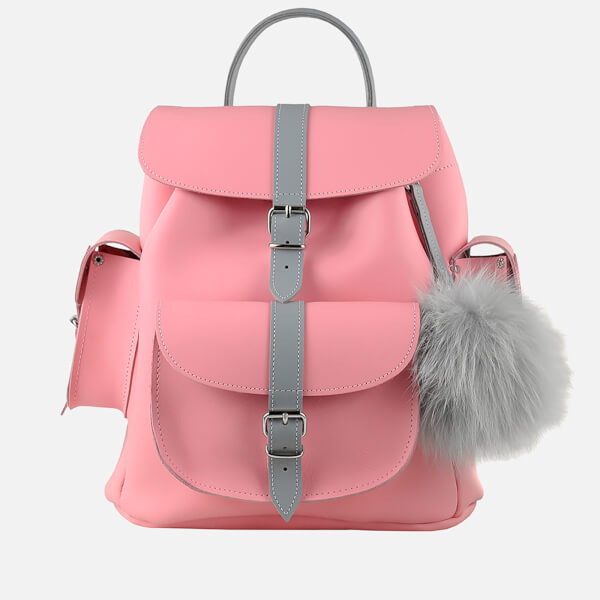 Grafea Women's Peony Leather Backpack - Pink