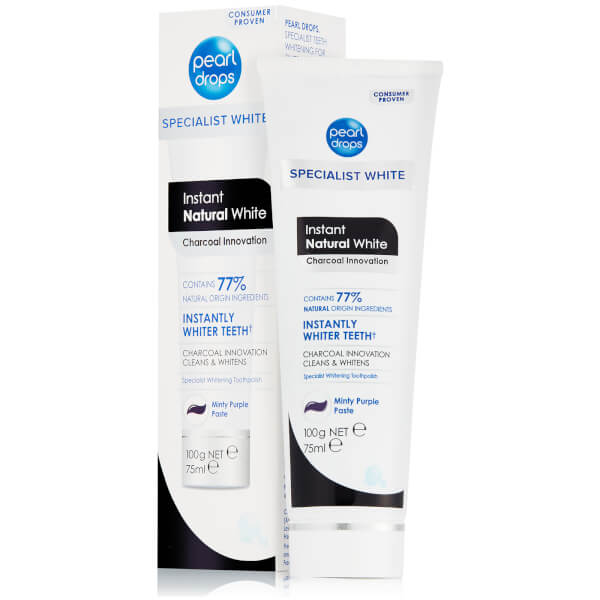Pearl Drops Instant Natural White Charcoal Toothpolish 75ml