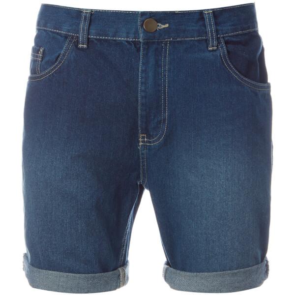 Brave Soul Men's Uganda Denim Shorts - Mid Wash