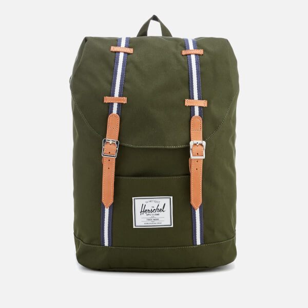 Herschel Supply Co. Men's Retreat Backpack - Forest Green/Veggie Tan Leather