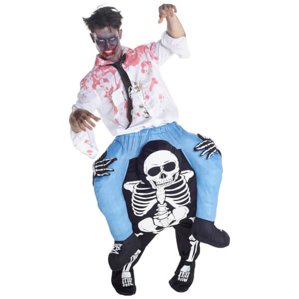 Piggyback Adults' Skeleton Costume - Black