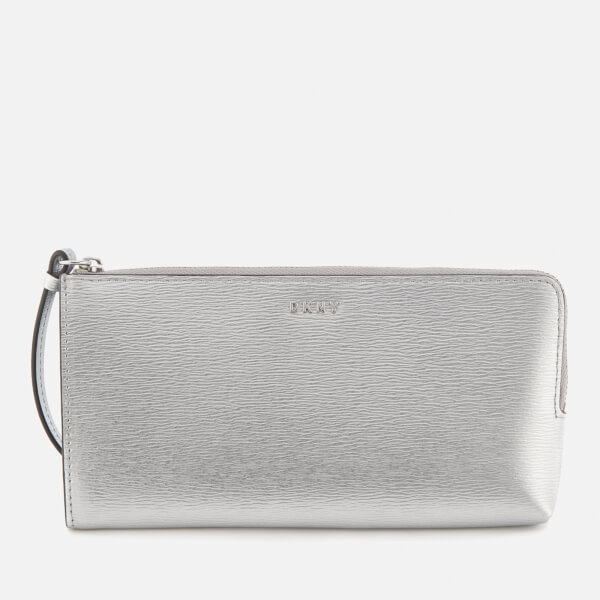 DKNY Women's Bryant Medium Wristlet Pouch Bag - Dark Silver