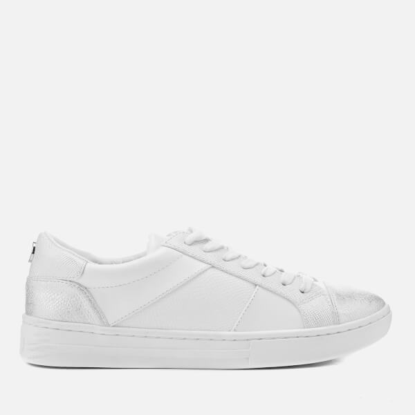 Dune Women's Egypt Leather Cupsole Trainers - White