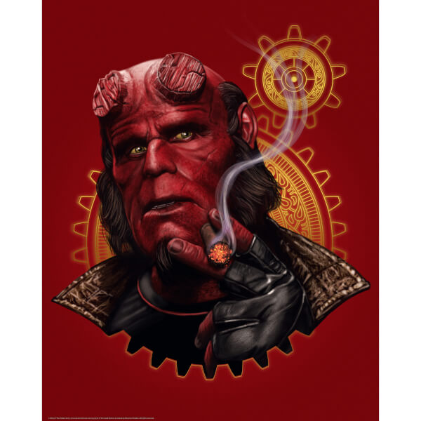 Limited Edition Fine Art Giclee - Hellboy - Smoking - Zavvi Exclusive
