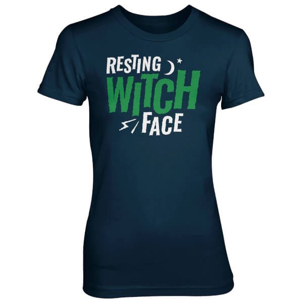 Resting Witch Face Women's Navy T-Shirt