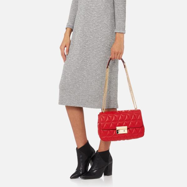 1cbf65dadd7f8 MICHAEL MICHAEL KORS Women s Sloan Large Chain Shoulder Bag - Bright Red   Image 6