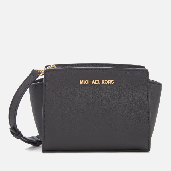 MICHAEL MICHAEL KORS Women s Selma Mini Messenger Bag - Black  Image 1 f8cf034ed222f