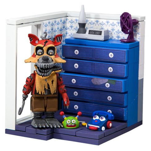 McFarlane Five Nights At Freddy's Dresser And Door With Nightmare Foxy Small Action Figure Set
