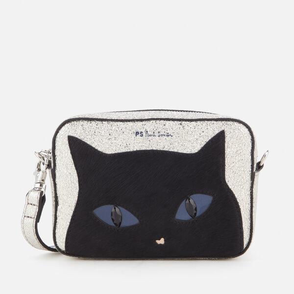 PS by Paul Smith Women's Silver Cat Cross Body Bag - Silver